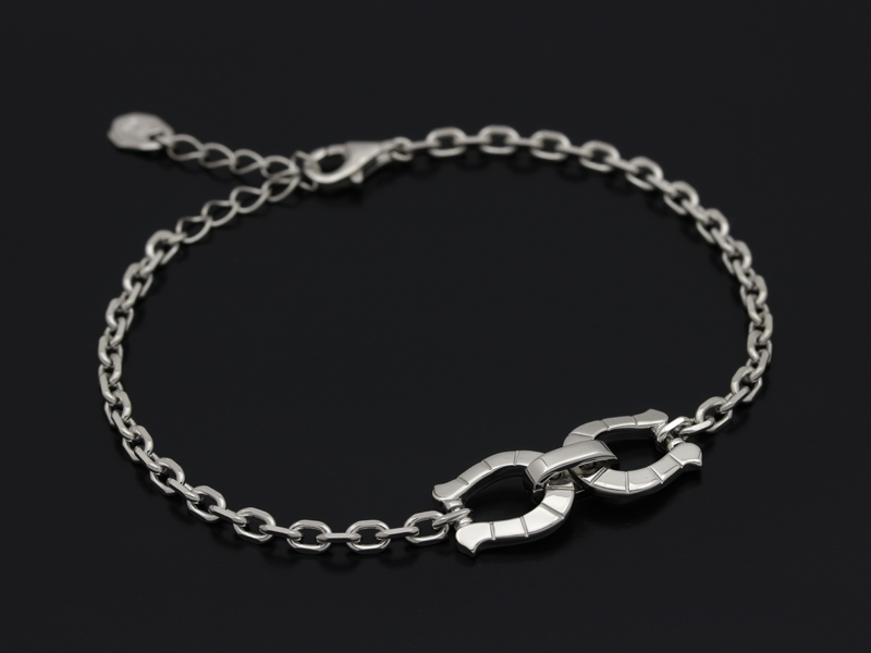 Horseshoe Chain Bracelet - Silver