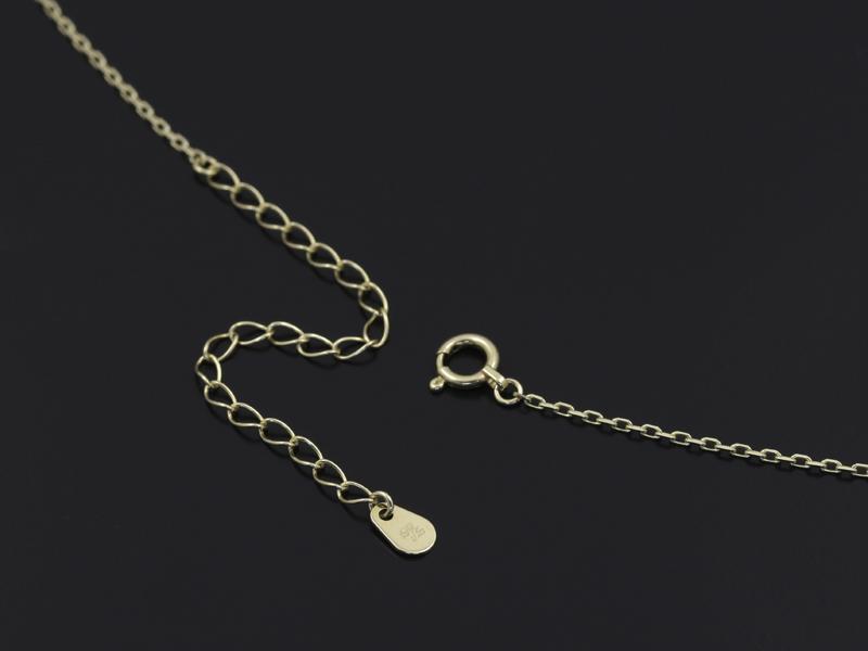 Small Gravity Cross Necklace - K10Yellow Gold w/Diamond