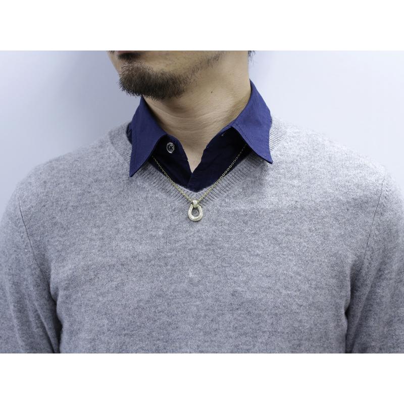 Horseshoe XL Pendant Premium - K18Yellow Gold w/Diamond