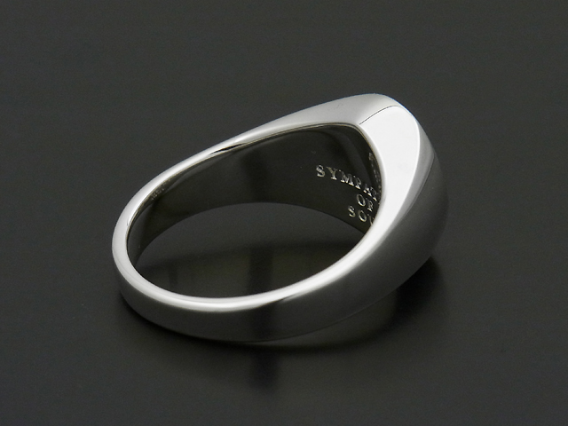 Oval Signature Ring - Silver w/Ash Diamond